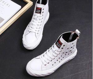 Красные белые черные мужчины накалы на молнию высокой верхней туфли натуральная кожа FALT повседневная обувь для мужчин офисная удобная спортивная обувь