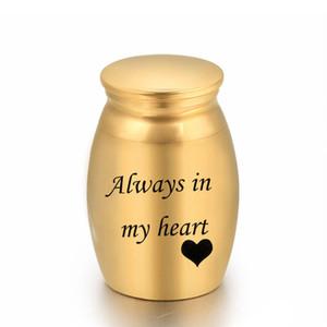25 x 16 mm Aluminum alloy Urns Pets Cremation Ashes Urn Keepsake Casket Columbarium Memorials Always in My Heart