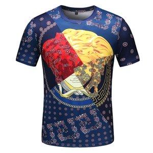 Новый 2020 Мужчины Лето Streetwear Medusa Хлопок футболки дизайнера Футболка мужская Женщины моды Урожай Цветочные печати тройники Luxury Повседневный T-Shirt