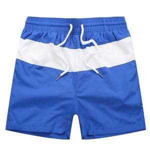 Trend Шорты мужские пляжные шорты Новый летний Длина колена совета Повседневный Полосатый Короткие штаны эластичный пояс дышащий Полосатые бегуны шорты