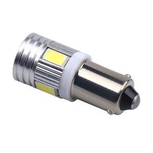 10pcs T11 363 BA9S 5630 5730 SMD 6 LED T4W plaque d'immatriculation de voiture lumière clignotant ampoule feux de stationnement porte lampe blanche 12V