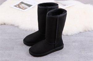 2020 Bow-Knoten Womens Australien Klassische Hälfte Hälfte Sneakers Bogen Frauen Mädchen Schnee Winter Knöchelstiefel Lederschuhe 009