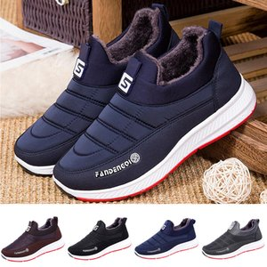 Waterproof Men's Winter Shoes Couple Unisex Snow Boots Warm Fur Inside Antiskid Bottom Keep Warm Casual Boots#35