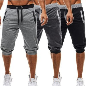 Mens Cropped Shorts Pants Beach Designer Pants Casual Summer Fitness Sport Short Joggers Plain Trousers Casual Beach Male Short Pants