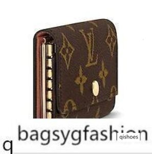 M62630 6 HOLDER old flower brown Real Caviar Lambskin Flap Bag LONG Chain WALLETS KEY CARD HOLDERS PURSE CLUTCHES EVENING