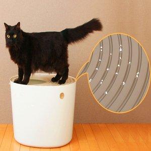 Gato Sandbox gatito caja de arena cubierta semicerrada bandeja WC Ropa de cama desmontable Formación Bedpan Para Pequeña Mediana para Mascotas