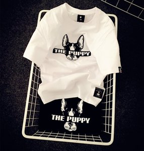 2020 Designer Black and White Fashion Style Summer Men's Women Designer T-shirt Cotton Puppy Printing Half-sleeved Shirt Tide Clothing S-2XL