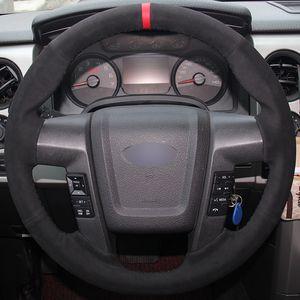 포드 F150 F-150 2011-2014에 대 한 블랙 스웨이드 레드 마커 자동차 핸들 커버