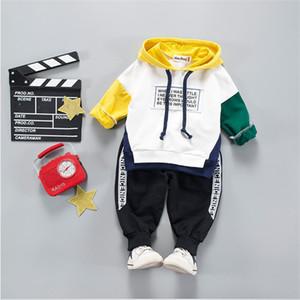 Çocuklar Bebek Giyim Setleri Kostüm Erkek Çocuk Erkek Giysileri Setleri Için Yüksek Kaliteli Karikatür Eşofman Erkek Kapüşonlu Ceket 6m-4 Yıl J190514