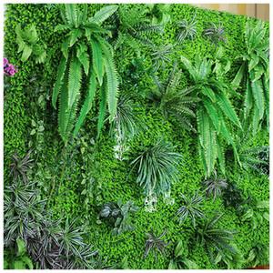 40x60cm Plantas artificiales Césped para boda Fiesta de cumpleaños Tienda Decoración Estera de hierba DIY Hierba Pared Arcos de flores Plantas falsas