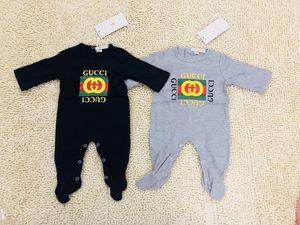 Marca Bebés Meninos Meninas macacãozinho Designer 3PCS SET infantil manga comprida de algodão Macacões