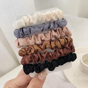 Scrunchie Hairbands Saç Kravat Kadınlar için Saç Aksesuarları Saten Scrunchies Streç At Kuyruğu Sahipleri El Yapımı Hediye Heandband