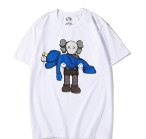 nouveaux amants chemises femmes t-shirt homme casual manches courtes UNIQLO X KAWS X SESAME STREET vêtements manteau L mode tees outwear tops tee qualité