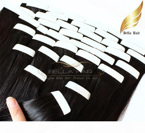 18~24inch natura pu Skin Weft Hair Extensions 100% Brazilian Human Hair Straight 2.5g piece 100g set Free Shipping