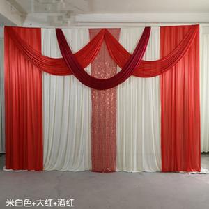 3x4m buz ipek şifon kumaş zarif ve düğün arka swags düğün sahne dekorasyon olay parti için perde Hayta