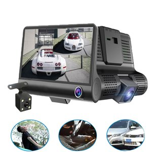 Original 4 '' Car DVR Camera Video Recorder Vista Traseira Auto Registrator om duas câmeras traço Cam DVRS Dual Lens