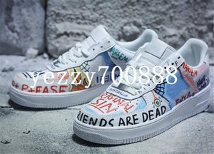 Best Quality Force Low One Graffiti White Multi Color Designer Skateboard Shoes Custom Forcing Ones Collaboration Pauly Sneakers fdzhlzj