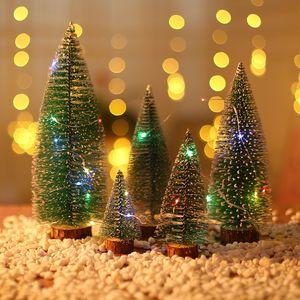 10/15/20/25 / 30cm Mini árbol de Navidad Fiesta de Navidad ornamento de navidad falso árbol de pino verde linda artificial Decoración DBC VT0853