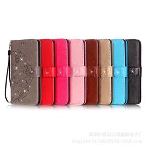 Bling paillettes diamant en relief magnétique portefeuille titulaire de la carte antichoc PU cuir Stand téléphone couverture pour Samsung S7 S8 S9 Note 8