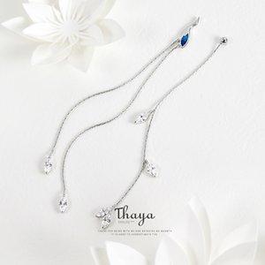 Thaya китайский стиль асимметрия синий кран серьги линии 925 серебряные серьги для женщин специальные изысканные ювелирные изделия CX200628