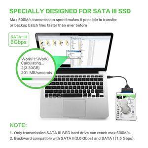 """da DHL adattatore SATA III USB 3.0 Disco rigido esterno Cavo USB a Serial ATA 22pin Converter Hard Disk 2.5"""" HDD / SSD"""