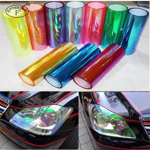 120 cm * 30 cm Brilhante Chameleon Car Lamp Film Car Styling faróis Luzes traseiras filme luzes Mudança de Cor Filme Corpo adesivo