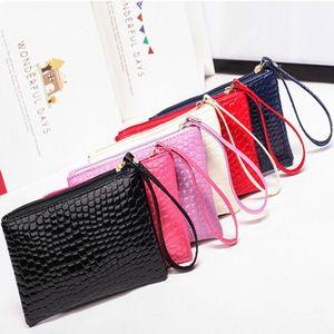 Grátis mulheres Clutch Bag Grande Capacidade Coin Purse Mobile Phone Bag Saco do presente