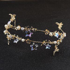 Nouveaux Accessoires de mariée Accessoires de cheveux Accessoires de robe de mariée Korean Main - Made Five - Point Starfish Hair Band Crown Headdress
