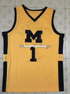 # 1 Джамал Кроуфорд, Мичиган, Wolverines College Top Баскетбольная майка, вышитая вышивка, любой номер и имя XS-6XL Vest Jerseys Ncaa