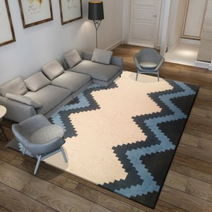 Hot Sale Factory Price Nordic American Study Living Room Coffee Table Mat Carpet Simple European-Style Home Mat Bedroom Full Washable
