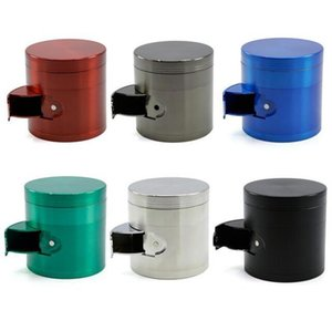 Concave Grinders Herb Spice Crusher 50mm 4 Parts side-open Metal Grinder Zinc Alloy Material