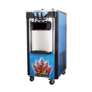 certificado CE venta caliente fabricante de helados comercial / simple Comercial 3 Sabores vertical mejor helado de máquina Soft Serve Ice-Cream Machin