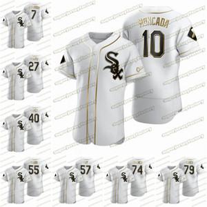 2020 dourado Edição jersey 10 Yoan Moncada 74 Eloy Jimenez 8 Bo Jackson 7 Tim Anderson 57 Jace Fry 28 Leury Garcia 33 James McCann