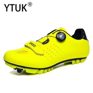 YTUK بلين الجديد الدراجة أحذية أحذية ركوب الدراجات على الطرق الرجال أحذية رياضية الطريق دراجة الخفيفة جدا الذاتي قفل الأخضر تنفس المهنية