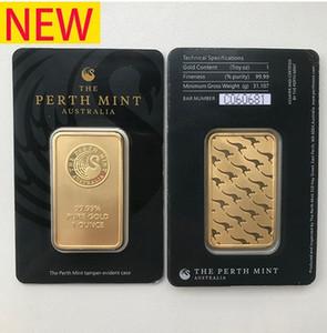 lingotti d'oro in Australia Perth Mint 999 multa placcato in oro 24k bar monete qualità non magnetico artigianali in metallo Collezioni souvenir regali aziendali