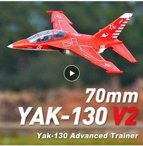 Yak130 Yak130 V2 Impeller EDF Jet 6S 6CH 70mm FMS Mit Flaps Retracts PNP EPO RC Flugzeug-Modell Flugzeug Flugzeug Avion NEU