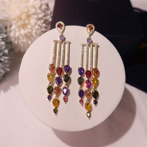 Verastore Banda Nova casamento Stud Brinco de prata esterlina 925 Diamonds CZ simulados noivado belas jóias anéis de cristal Ear