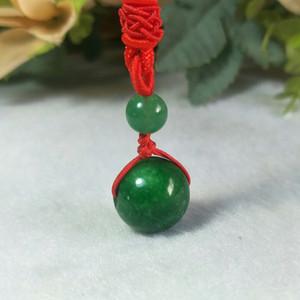 Jade Pendant Myanmar Colar Pingente Beads Green Jade Jóias Fine Jewelry Sorte talismã Beads Presente de Natal Pendant Jewelry