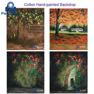 Powerwin Studio Photography 3x3 3x4 3x5 3x6 peinte à la main Muslin Coton Tissu de Fond Rideau pour mariage Born anniversaire
