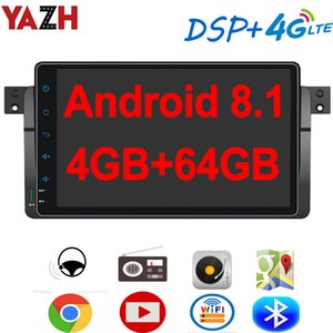 "YAZH Android 8.1 4GB 64GB radio de coche reproductor de DVD para BMW E46 1998-2005 con 9,0"" pantalla IPS GPS Bluetooth 5.0 SWC OBD 4G tarjeta SIM"
