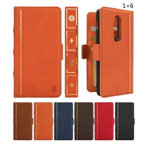 wholesale 1+6 Luxury Book Model Removable Case Leather Phone Case Cover Capa For Oneplus 6 1+ 6 Protector Coque Kickstand Holder