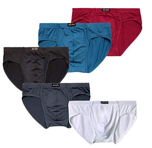 Paquet de sous-vêtements respirant Triangle respirant en soie pour homme