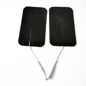 Grande électrode Pad Electro Shock stimulation Aucun tissé Patches Pads avec la queue pour la thérapie Full Body Massager EMS Des dizaines machine 10pairs / lot