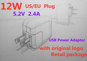 Perakende kutu withth ABD A1401 fiş AB 12W USB Güç Adaptörü AC ev Duvar Şarj 5.2V 2.4A tableti Seyahat Şarj