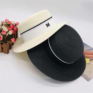La letra M de la playa de Cap de verano diseñador de moda de la calle Sombreros Gorros para la mujer casquillos ajustables para mujer Sombrero de la playa sombrero de ala