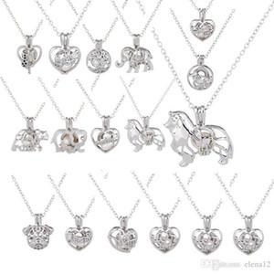 Liebe Wunsch-Perlen-Designer Halskette Cages Medaillon aushöhlen Oyster Perlen-Anhänger Hip Hop Schmuck Süßwasser-Zuchtperlen Wolf Hund Diy Schmuck