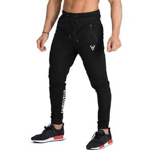 Mens Gym Workout Jogger Calças Slim Fit cônicos Sweatpants Pista de Corrida bolsos das calças Joggers Calças Men Athletic Gym Sweatpants