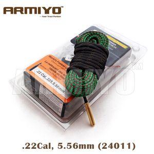 Armiyo .22Cal 5,56 mm Diámetro del arma cepillo de limpieza de la serpiente del rifle barril Cleaner Kit honda 24011 m4 Caza Accesorios