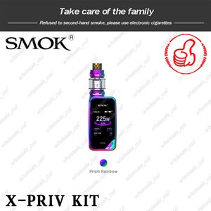 Authentique SMOK X-Priv Starter Kits ecigarette 225W double 18650 Batterie Vape Mods avec TFV12 Prince-réservoir Smoktech X Priv Kit