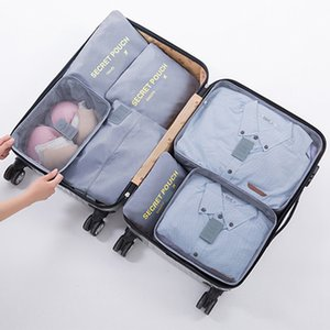 Travel 7pcs Set Storage Bag Multi-function Home Waterproof Clothes Bag Large Capacity Luggage Finishing Bags Set With Shoe Bags DH0851 T03